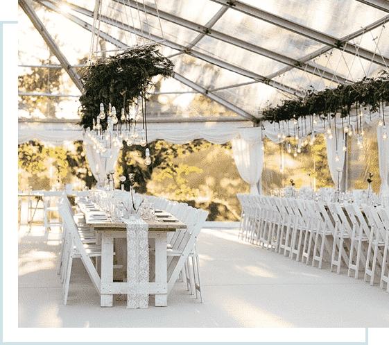 affordable stretch tent hire