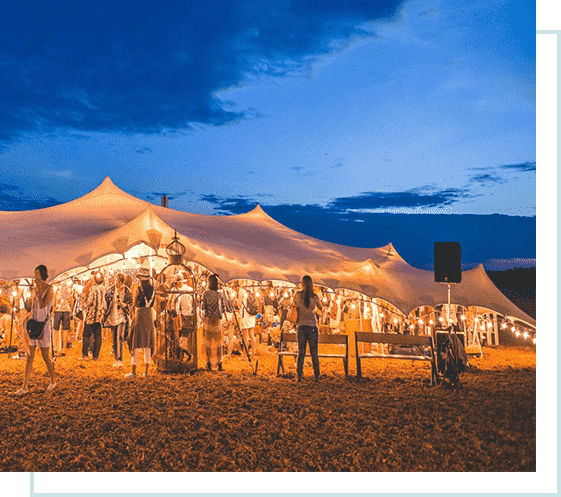 festival marquee tent hire