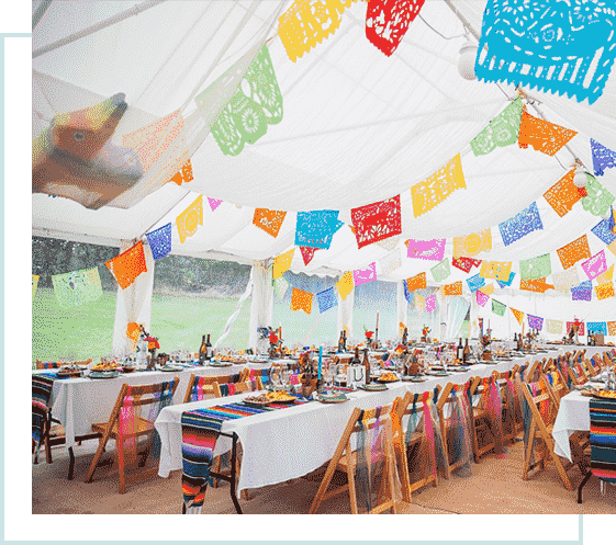 themed stretch tent hire